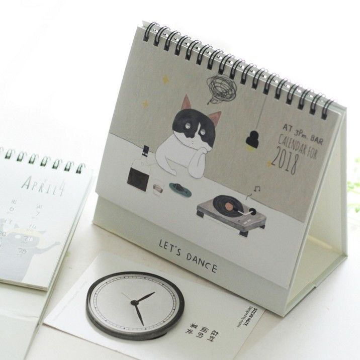 Cute Desk Calendar Slanted Writing Desk