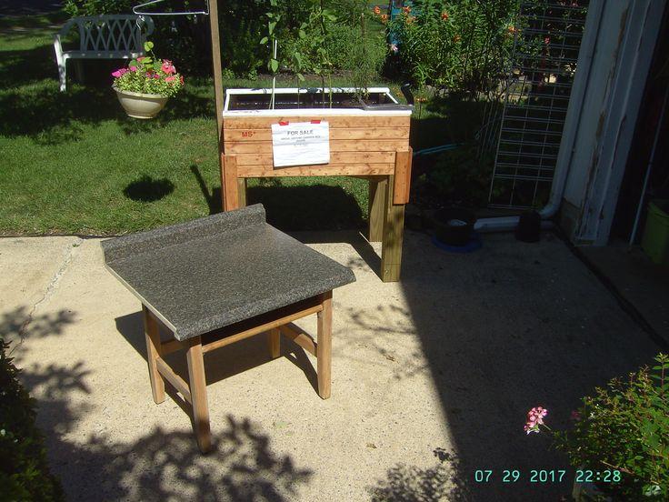 Above Ground Garden Table