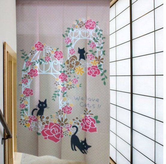 marca nova linda cortina de porta noren joy 5908 gatos da sorte em Cortinas de banheiro de Casa & jardim no AliExpress.com