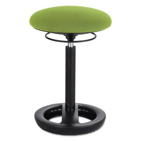 Safco Twixt Desk Height Ergonomic Stool, 22 1/2 inch High, Green Fabric, Multicolor