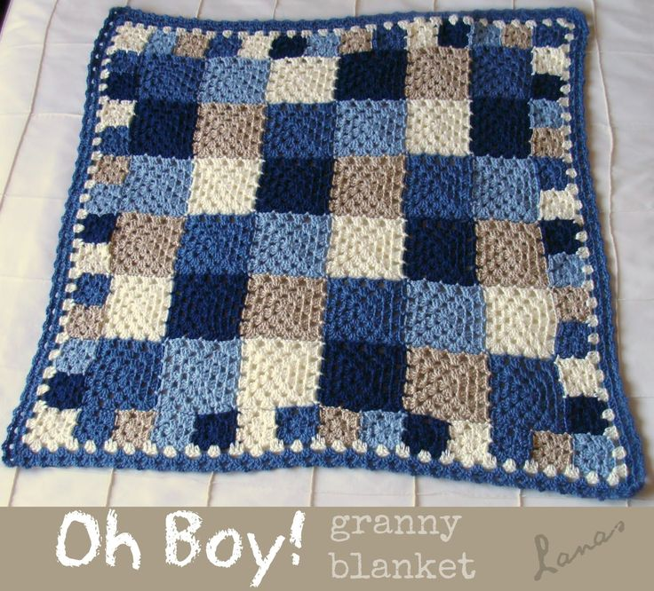 Frazada para Niño   (Crochet)   Made by (Hecho por): Beatriz             A classical granny blanket, with a little twist: the body is made...