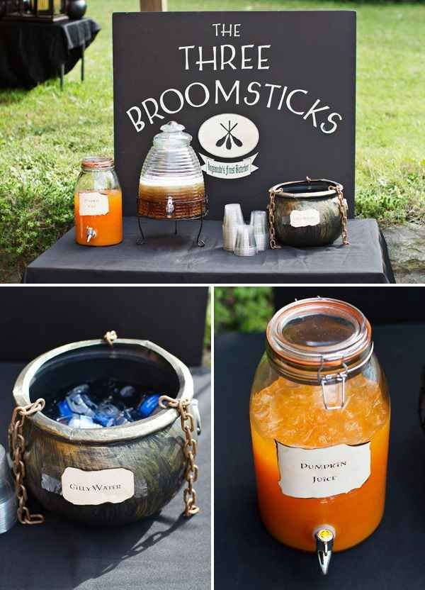 Recreate everyone's favorite occult pub. | 33 Cheap And Easy Ways To Throw An Epic Harry Potter Halloween Party