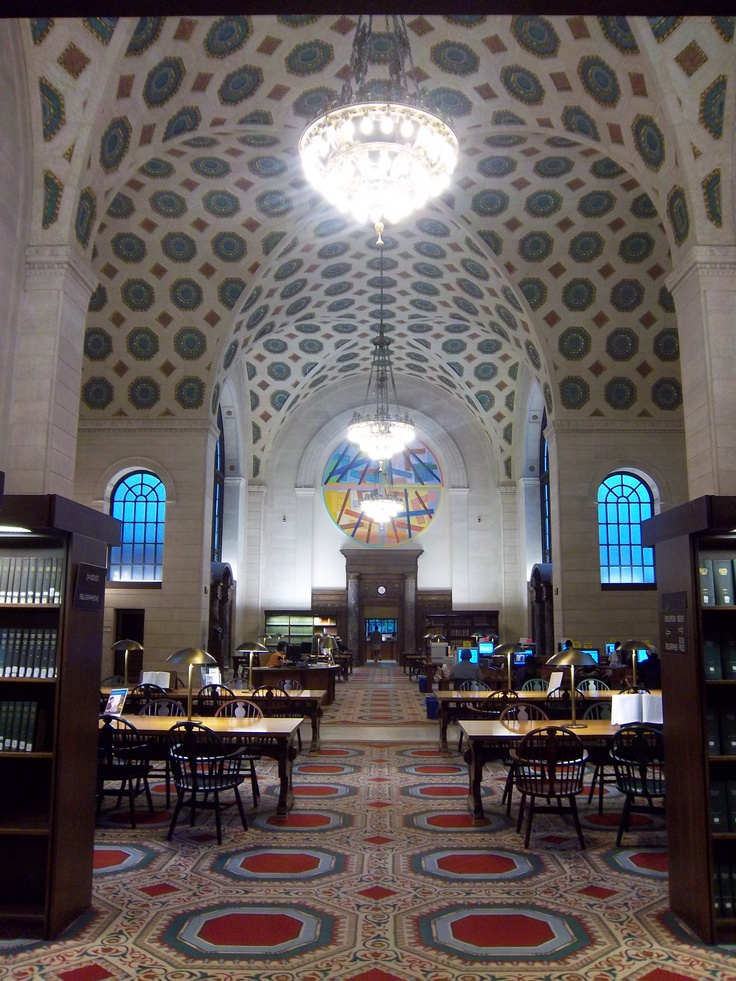 Cleveland Public Library in downtown Cleveland -- bestest place on earth.