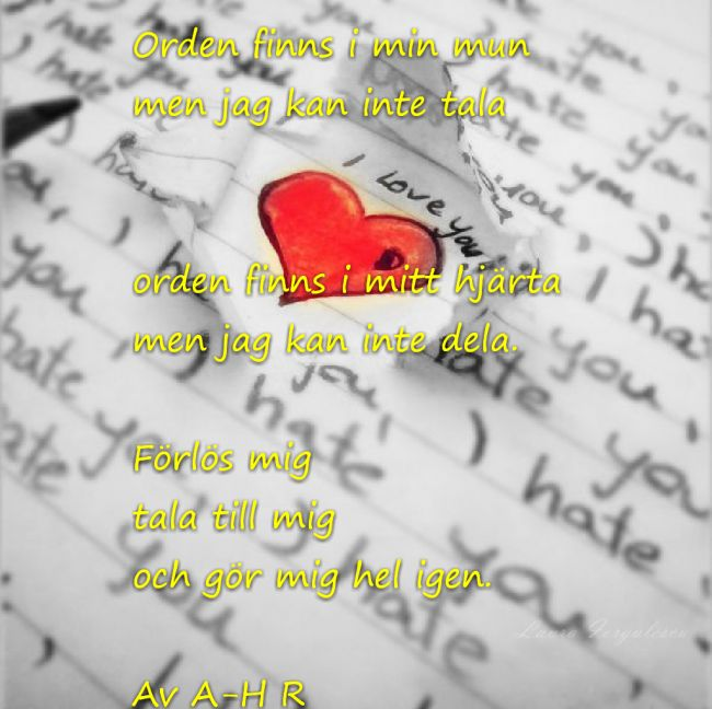 Svenska Kulturnyheter  #dikt #poesi #svensk #svenskpoesi #svenska #blogg #kärlek #hat #förlåtelse #hopp
