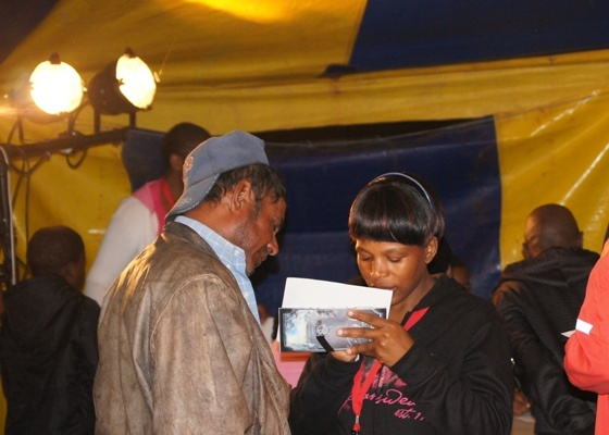 MARIANNHILL - One of our ushers taking testimonies.