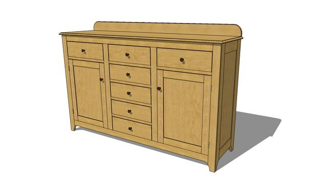 shaker sideboard plans woodworking projects plans. Black Bedroom Furniture Sets. Home Design Ideas