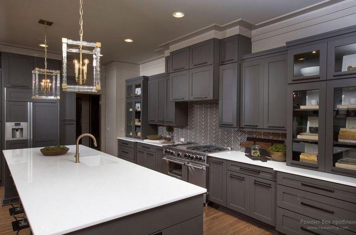 Интерьер кухни серого цвета: красивые идеи оформления в серых тонах