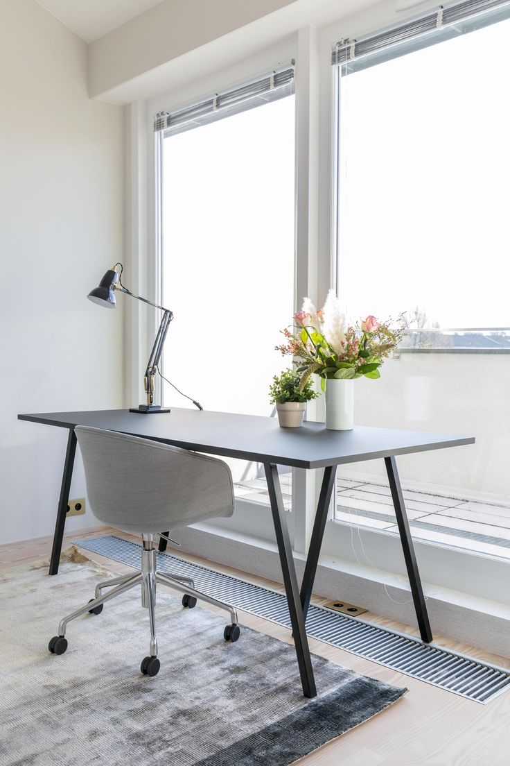 Home office space with a view. Designed by Studio Mills.