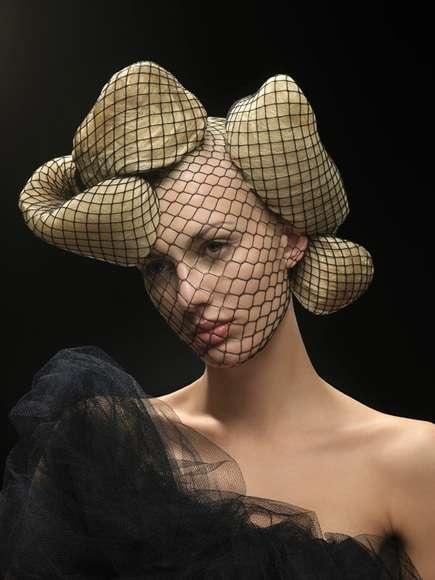 Netted Faces & Mollusk Hair: 'Big Hair' by Saima Altunkaya Features Avant-Garde…