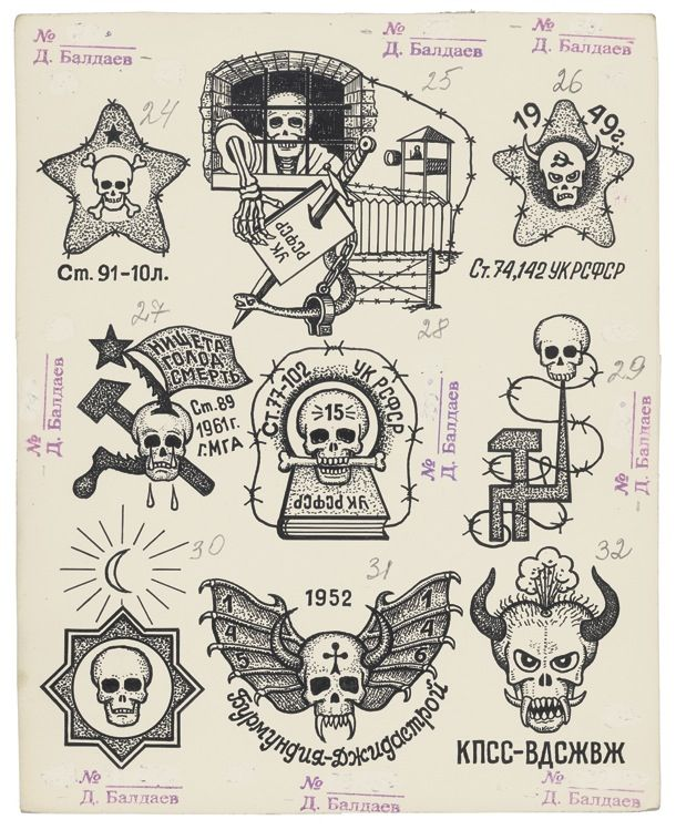 Russian Prison Tattoos - Part 1 of 2 Spider/Spider Web – Drug User/ Addict Monastery/Church/Castle – A common tattoo rep the bearer's time insider, the no of towers to the building usually denotes the no of years
