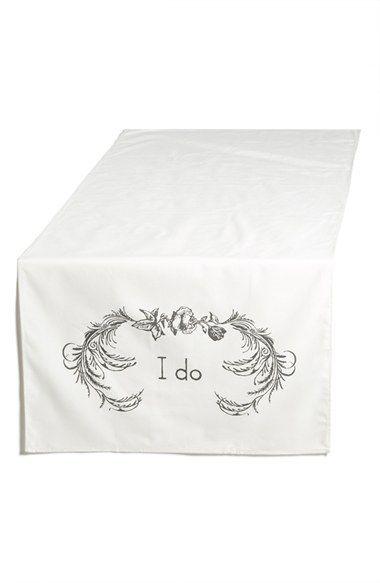 Tin Parade 'I Do' Canvas Table Banner