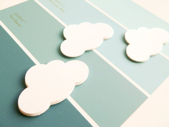 20 Punched Clouds  Confetti or Papercraft  Wedding by newnanc, $2.50