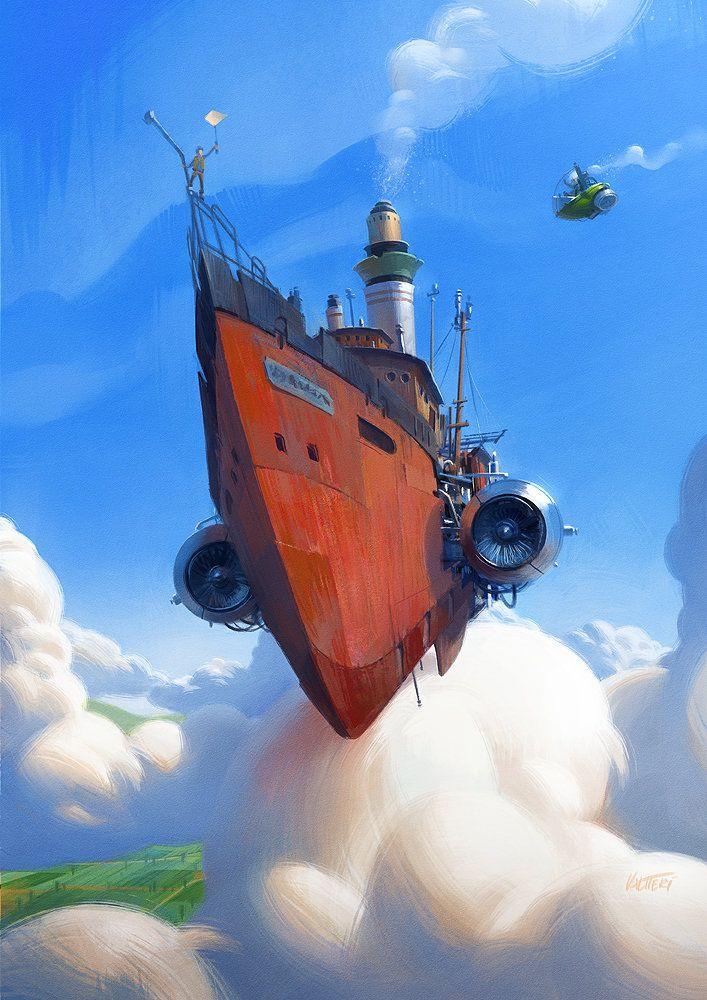 Ahoy there!, Valtteri Heinonen on ArtStation at https://www.artstation.com/artwork/ahoy-there