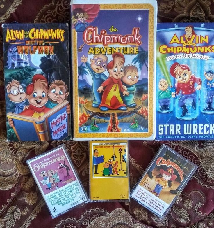 Alvin and the Chipmunks Lot of 6 Includes 3 VHS & 3 Cassette  Tapes Star Wreck + Adventure + Meet the Wolfman See now on EBAY. $15.99
