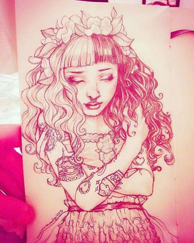 ✨3rd place winner's sketch: Training Wheels Flower Crown Melanie  (Winner: Crazy Crybaby on #Crybabies Amino)