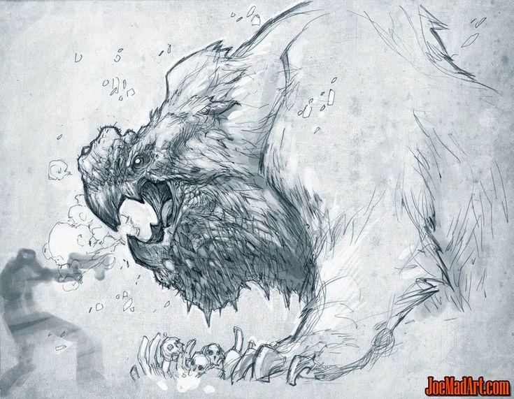 ...an owl bear maybe?  Exploration stuff: original creature (Unused)