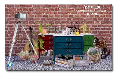 TS2 To TS4 A Mix Of Deco Objects at Msteaqueen via Sims 4 Updates