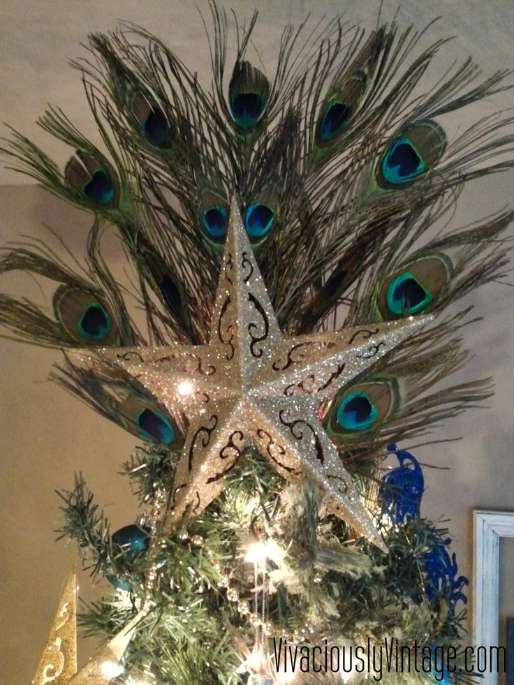 peacock christmas tree | Vivaciously Vintage: Peacock Christmas Tree!