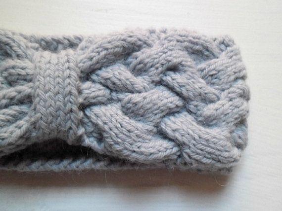 Fascia per capelli lana e alpaca blu ghiaccio (circonferenza 43 cm, altezza 8 cm)