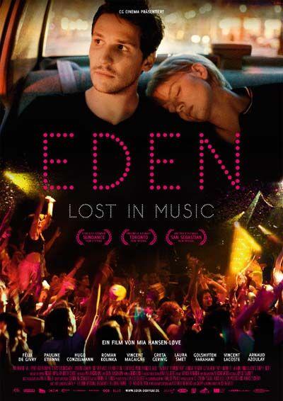 Eden (-) film français (2014) de Mia Hansen-Løve avec Félix de Givry, Pauline Etienne, Hugo Conzelmann. Drame, Musical. Vu avec Aurore en DVD janvier 2017.