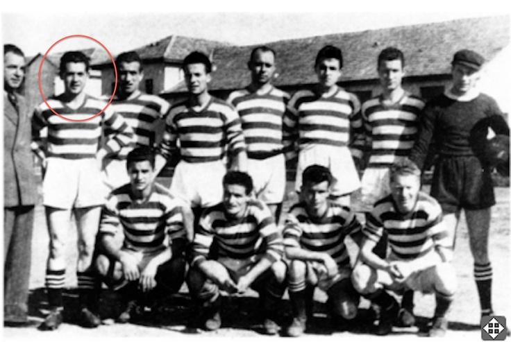 "My grandfather and namesake ""Tino Mariani"" pro-football team in the years 1947-1948 Lissone"