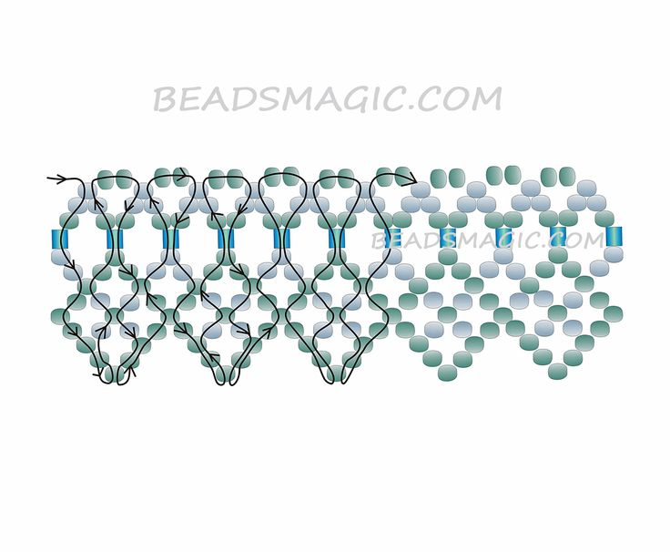 Free pattern for necklace Mint | Beads Magic | Bloglovin'