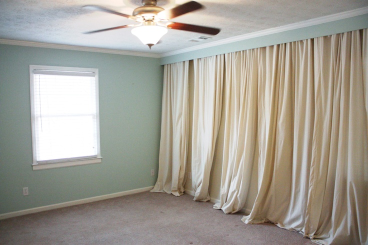 Step-by-step how-to make a draped wall. (someday i will do this in one of my places)
