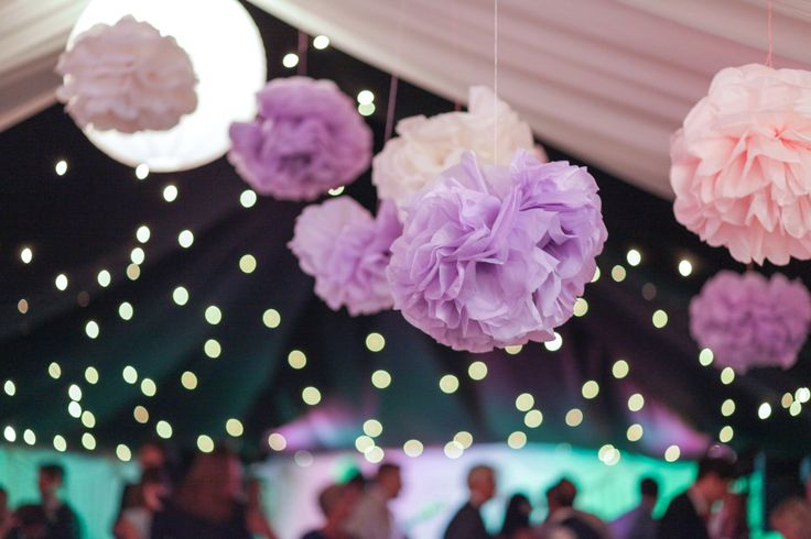 Purple, Pink and Lilac Pom Poms..
