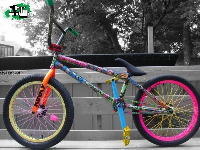 Possibly the world's most colourful bmx?