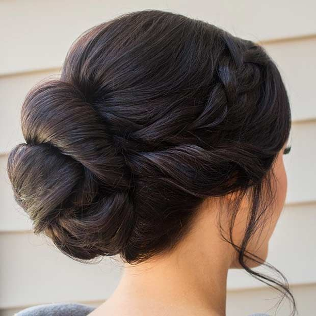 Elegant Bun Updo for Bridesmaids