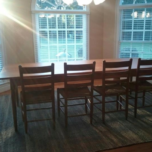 10ft Shaker Farm Table Handcrafted By Mobili Farm Tables South Carolina  Mortice And Tenon Joinery Pegged