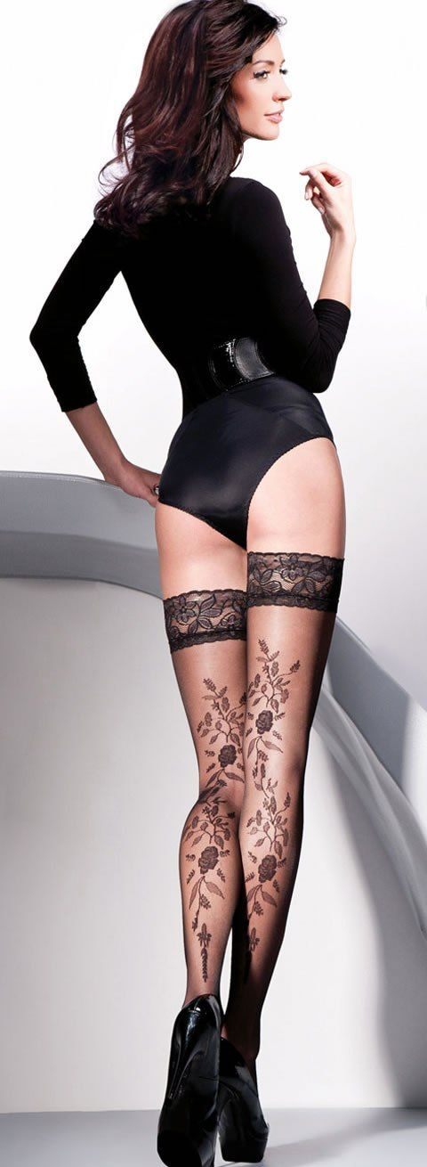 (swoon)....These stockings are fantastic. how alluring they are a trailing vine to the garden to eden.  perfect.