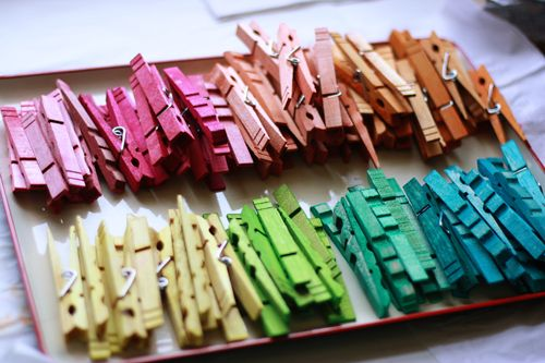 Two-Tone Tie-Dye Clothespins