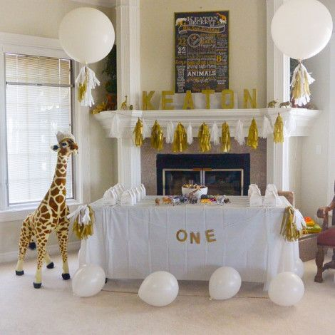 a golden safari themed first birthday | the Path Less Traveled
