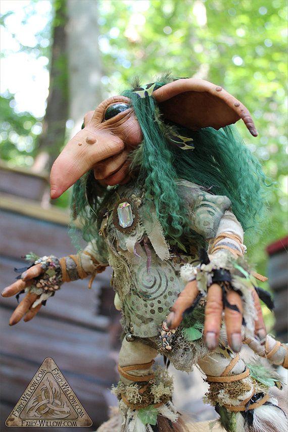 Elwee OOAK Art Doll Custom main sculptée de qualité par FairyWillow, $200.00