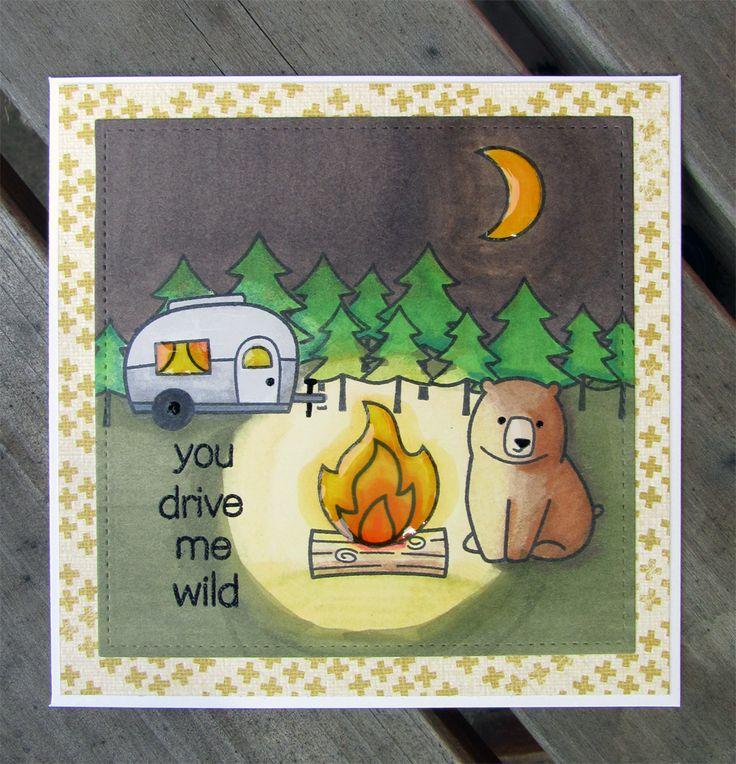 En liten bit av mig: Manliga kort med Lawn fawn.// you drive me wild