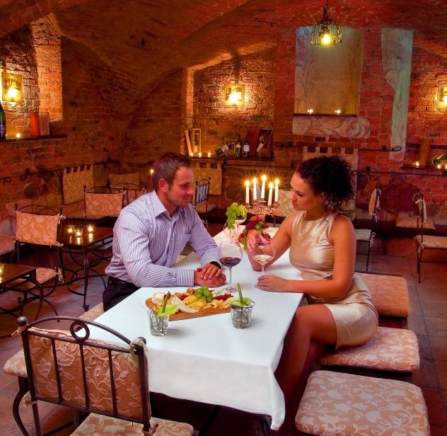 XVII-century wine lounge at Dwor Oliwski Hotel