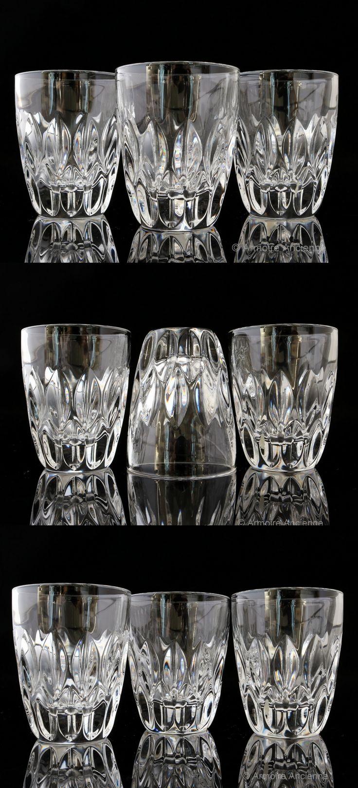 best vintage crystal glasses  barware  bar cart accessories  - cut lead crystal shot glasses set of   german crystalware  midcentury barware bar cart accessories
