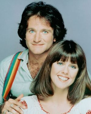 """Mork & Mindy Children who love Robin Williams as the voice of Aladdin or as Mrs. Doubtfire will get a blast out of the show that blasted him into the stratosphere, and made """"Nanoo, Nanoo"""" a national catch-phrase."""