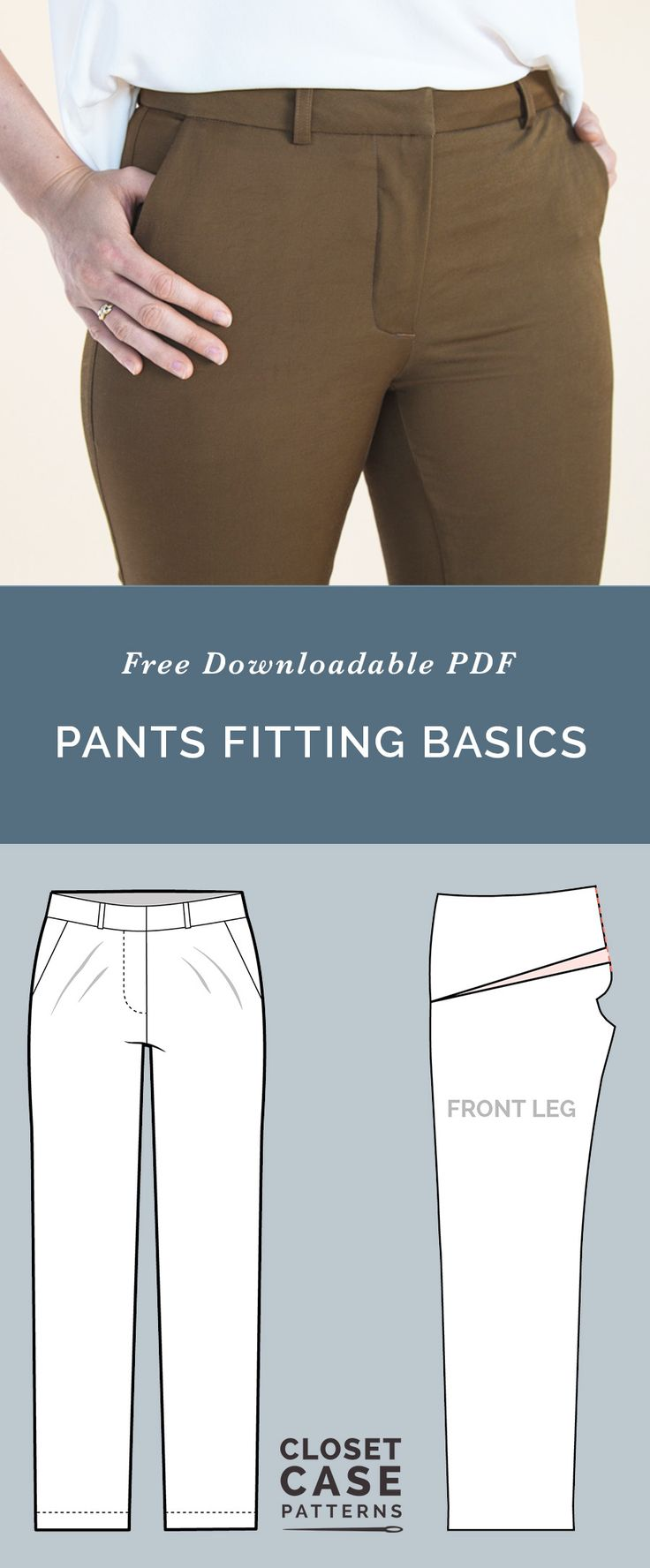 Ultimate guide pants fitting adjustments! Learn the best tips for pants fitting // Closet Case Patterns https://closetcasepatterns.com/pants-fitting-adjustments-best-tips-for-pants-fitting/
