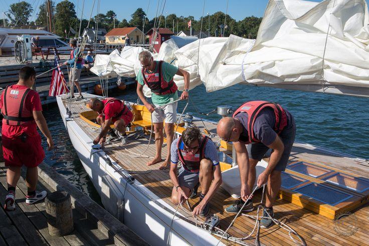 Besøg af en 12 meter i Rørvig Havn - sejlet fra Skovshoved Havn