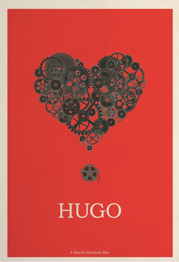 HUGO: Minimalist Posters, Minimalist Movie Posters, Posters Design, Graphics Design, Hugo 2011, Film Posters, Hugo Cabret, Hunters Langston, Minimal Movie Posters