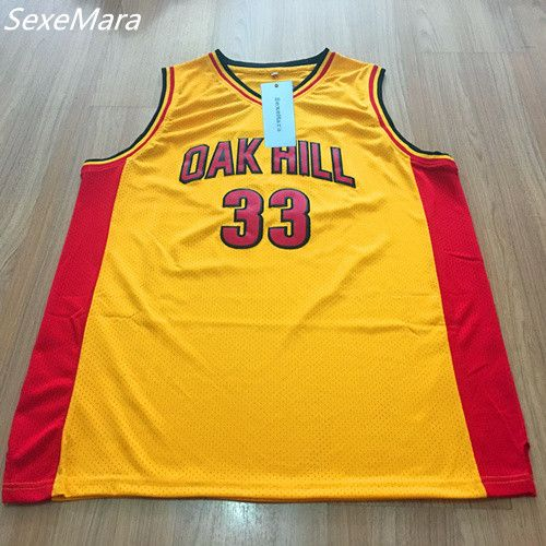 01efdcf9a6d ... SexeMara Mens 33 Kevin Durant Oak Hill High School Embroidered Stitched  Yellow Throwback Basketball Jerseys Mens Swingman ...
