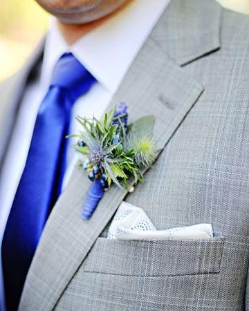 grey suits & royal blue ties