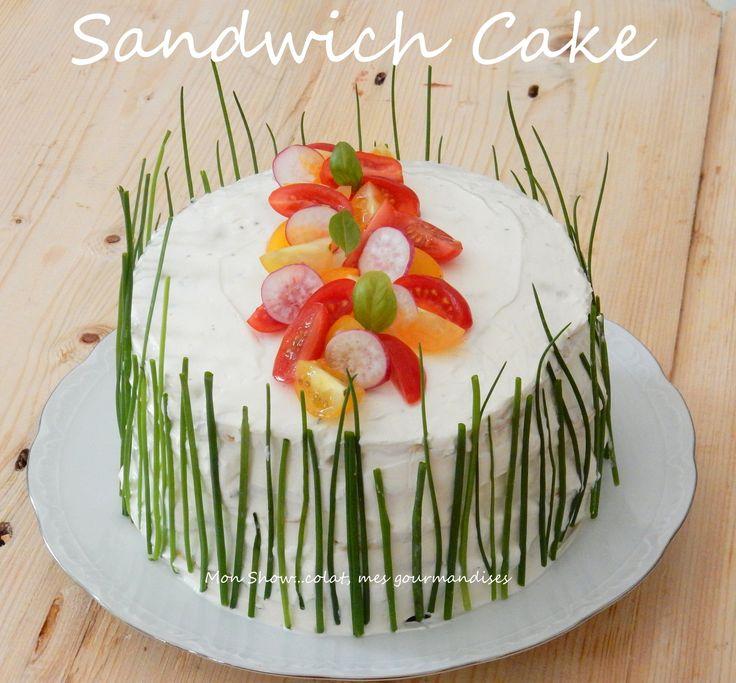Sandwich Cake (Truite fumée et Concombre)