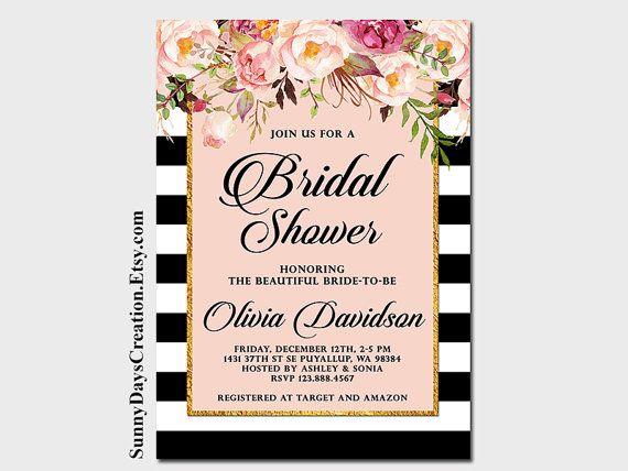 Bruids douche uitnodiging lente/zomer bruids door SunnyDaysCreation