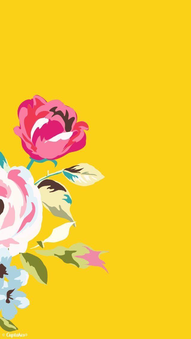wallpaper iphone yellow cute: Pin By Monica Nguyen On Cute ️/ Wallpaper Worthy