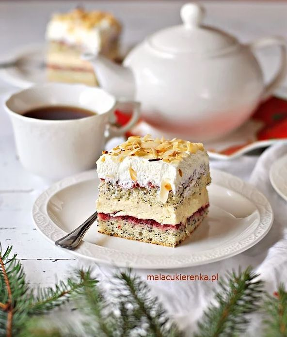 Warstwowe Ciacho Z Makiem I Konfitura Idealne Do Kawy Recipe In 2020 Pyszne Ciasta Desery Pomysly Na Dania