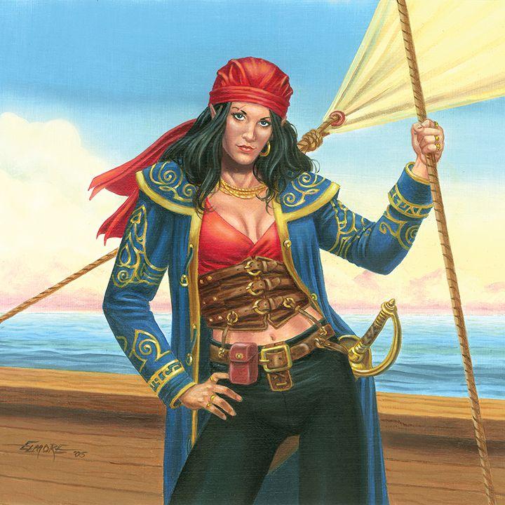 Fantasy pirate women was