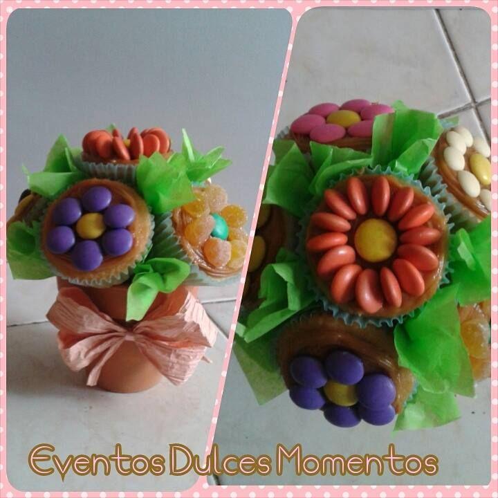 Ramos de Cupcakes con Chocolates